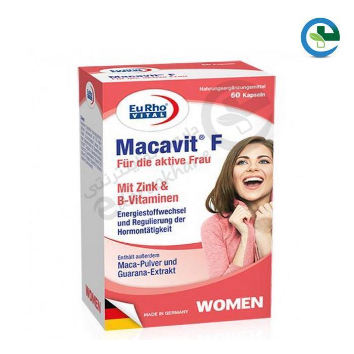 كپسول تقویت جنسی بانوان ماكاویت اف یورو ویتال 60 عددی