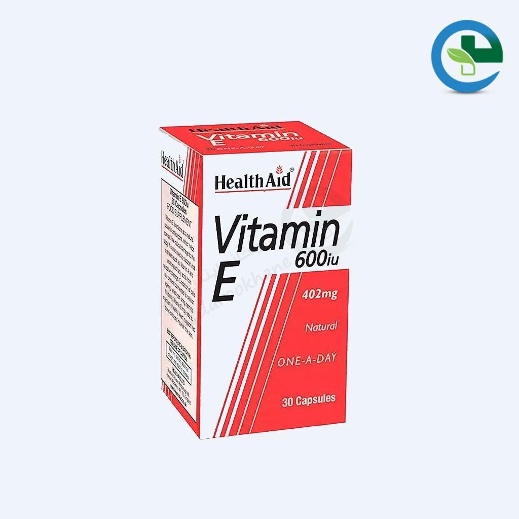 كپسول ویتامین ای ۶۰۰ واحد هلث اید