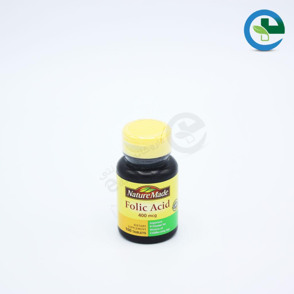 قرص فولیك اسید ۴۰۰ میكرو گرم نیچرمید