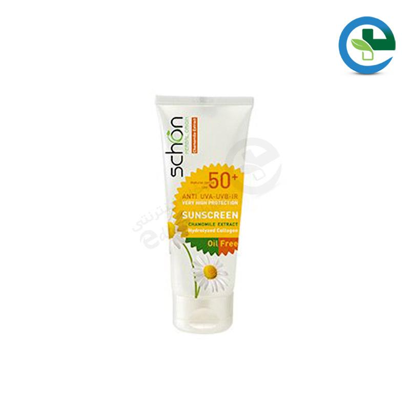كرم ضد آفتاب با رنگ طبیعی مخصوص پوست چرب SFP50 شون